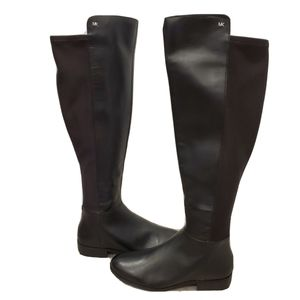NEW Michael Kors Bromley Black Leather Boots